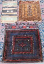 3 x ANTIQUE COUNTRY HOUSE SHABBY CHIC PERSIAN SOFREH BAGS RUGS. 3 FOR 1 OFFER