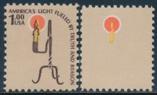 #1610a $1 RUSH LAMP BROWN ENGR OMITTED MAJOR ERROR -- XF NH -- BU4137