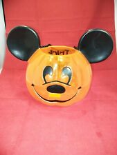 Disney Mickey Mouse Halloween Pumpkin Trick or Treat Candy Bucket/Pail~Blow Mold
