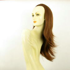 DT Half wig HairPiece extensions long straight coppery golden brown 24.4  :13/30