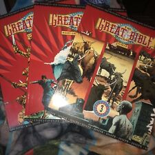 Great Bible Discovery Lot Of 3 Comic Book 3,4 And 8 Children