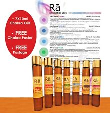RA Chakra Oil Blends 100% Pure Essential Oils 7X10ml • FREE POST • Aromatherapy