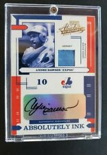 Andre Dawson Auto Jersey /100 2004 Donruss Playoff Absolute Beautiful Signature