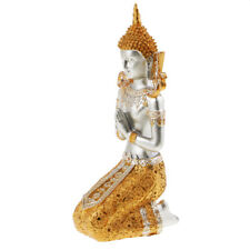 Exquisite Thai Buddha Statue Praying Figurine Feng Shui Ornaments Craft