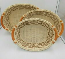Wicker Nesting Baskets Set of 3