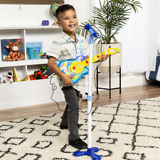 Toddler Kids Musical Guitar Toy Picks For Boys With Strap And Microphone Set