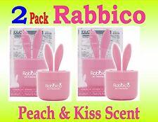 2 Pack-RABBICO Rabbit -Car, Home Air Freshener . Diax Japan - Peach & Kiss Scent