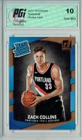Zach Collins 2017-18 Donruss #191 NBA Rated Rookie Card PGI 10