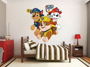 Paw Patrol Wall Decals Stickers For Children For Sale Ebay