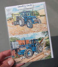 Ford 7810 and Ford TW-35 Tractor Greetings card [blank inside] by Steven Binks