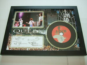 QUEEN   LIVE AID    SIGNED  DISC 75