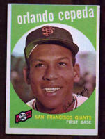 1959 Topps Baseball Orlando Cepeda #390 - FREE SHIPPING