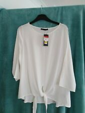 Ladies M&S Top.Cream.Tie front.Size 16. New with tags. (LF027)