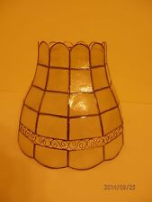 Genuine Capiz Shell Natural color 10 inch diameter Scroll Lamp Shade Only
