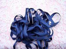 "100% Pure Silk Satin Ribbon 1/2""[13Mm] Wide 5 Yd Spool Navy/Blue"