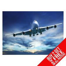 BOEING 777 COCKPIT AEROPLANE Picture Poster Print Art A0 A1 A2 A3 A4 1020