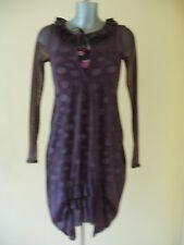 robe et sous robe  COP-COPINE modèle BRION T 1 fr 36 uk 8 us 4 couleur violine