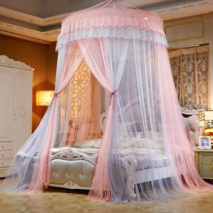 ed Canopy Double Colors Hung  Mosquito Net Princess Bed Tent Curtain Foldable