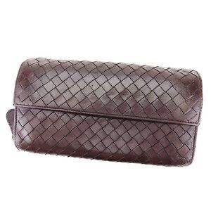 Bottega Veneta Wallet Purse Intrecciato Brown Woman unisex Authentic Used T2438