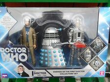 Dr Doctor Who Action Figure Set Enemies Of The First 1st Hartnell Dalek Cyberman
