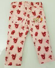 Steiff baby girls 18 months floral cotton jeans pants for spring