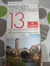 CARTE IGN touristique   13 pyrenees occidentales 1/250 000 1977