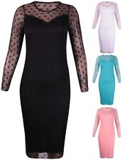 Polka Dot Machine Washable Plus Size Dresses for Women