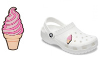 Awesome 3D Soft Serve Ice Cream Cone 1 Piece Shoe Official Crocs Charms Jibbitz