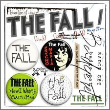 THE FALL ② Mark E Smith Post Punk John Peel Beggars Manchester Badge Set x4