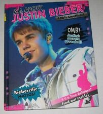 2011 All About JUSTIN BIEBER 100% Unofficial hardcover BOOK photos