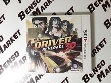 DRIVER RENEGADE 3D -  NINTENDO 3DS 2DS DS 3D - PAL ITALIANO COMPLETO COME NUOVO