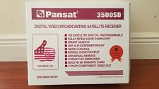 PANSAT FTA 3500SD SD Card Satellite Receiver Free to Air w/ Remote. Excellent!!!