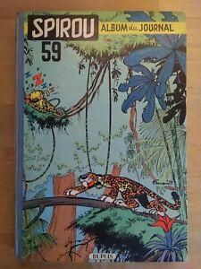 Le Journal de Spirou Album N°59 reliure éditeur Dupuis 1956