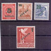 Berlin 1949 - Grün-Aufdruck - MiNr. 64/67 postfrisch** - Michel 250,00 € (348)