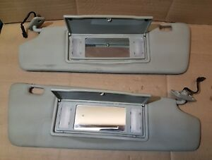 05 Saab 9-3 Convertible Sun visors pair beige