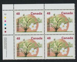 1991 Canada SC# 1363 UL - Fruit Tree - Plate Block M-NH Lot # 3321a