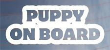 PUPPY ON BOARD Novelty Car/Van/Window/Bumper Sticker Ideal for Dog Owners