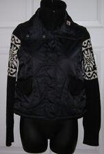 Metersbonwe Womens Black Sweater Jacket Small *Cute Must C*