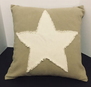 """Pillow Cover - All Star Taupe - 100% Cotton -  20"""" x 20"""" - Rustic Modern Decor"""