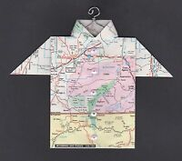 Origami Map Shirt Bighorn Canyon, Billings, Crow Reservation, Montana, Wyoming
