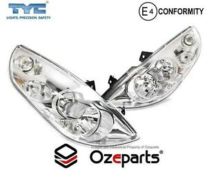 Pair LH+RH Head Light Lamp (No Static Light) For Renault Master Van X62 10~19