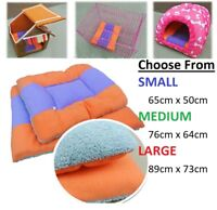 Double Sided Soft Warm Cushion Blanket Bed Dog Kennel Puppy Whelping Box Carrier