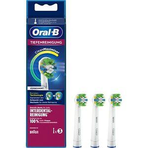 3 Braun Oral B TiefenReinigung Aufsteckbürsten Original OralB Ersatz Bürsten