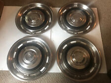 86 Rolls Royce Silver Spur Dawn Hub Caps Wheel Chrome Covers Oem Original Set 4