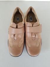 Dr. Scholls Women's Tan Leather Suede Laceless Shoes E7K-2X Size 9 M