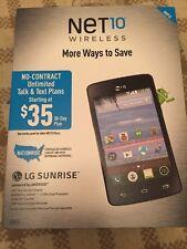 Net 10 Wireless LG Sunrise Prepaid Phone NEW