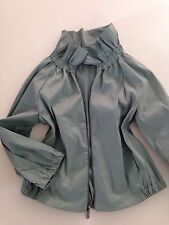 DONNA KARAN DKNY Adorable Mint Green Stand Up Collar Jacket Bracelet Sleeve  4