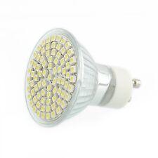 5W 60 SMD LED GU10 Beleuchte Lampe Weiß mit Glasabdeckung Energie-Einsparung YH