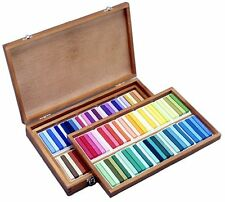 NEW Holbein Artists Oil Pastels 100 Sticks in Wood Box Set U690 From Japan