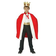 Boys Christmas Nativity King Red Royal Robe with Crown Fancy Dress Costume Set